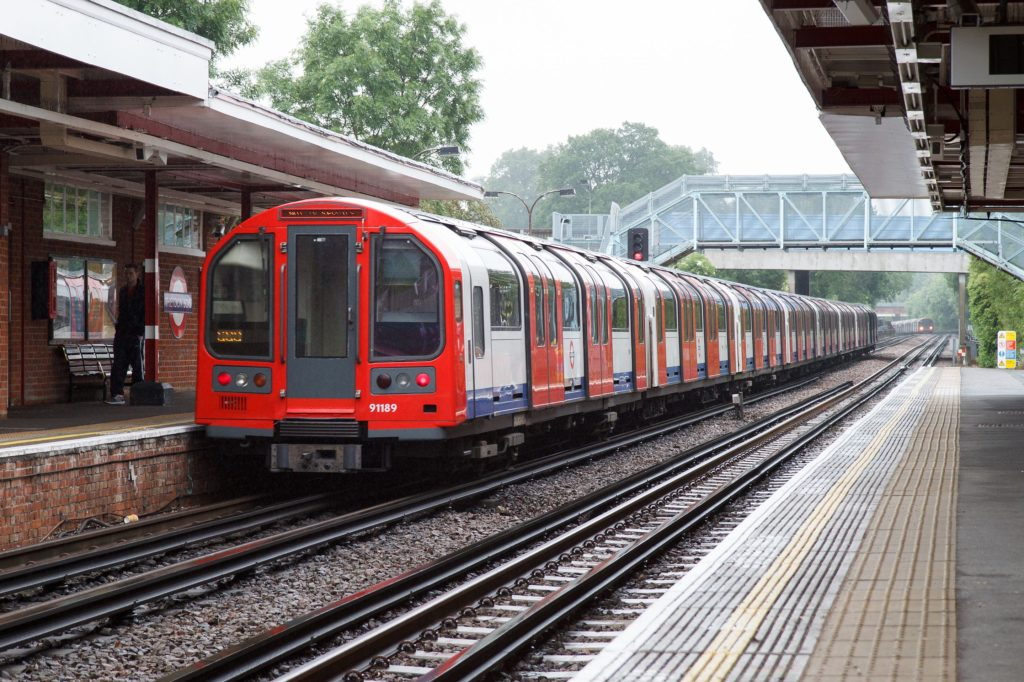 A tube train at Theydon Bois