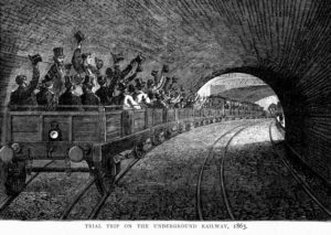 Trial of the first Underground line